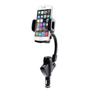 Dual USB Car Charger Phone Cradle Mount Holder Stand