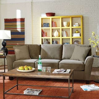 Sofab Muse II Three Seat Sofa with Two Toss Pillows
