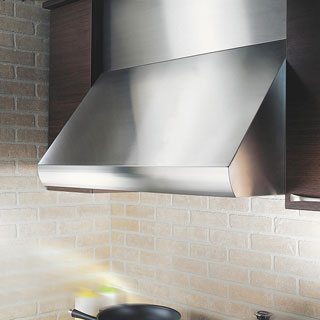 "KOBE CH0036SQB-WM-5 Deluxe 36"" Wall Mount Range Hood, 3-Speed, 720 CFM, LED Lights, Baffle Filters"