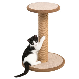 Prevue Pet Products 7103 Kitty Power Paws Short Round Cat Scratching Post with Platform