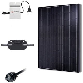Renogy 2KW Grid-Tied Basic Solar Kit - Black