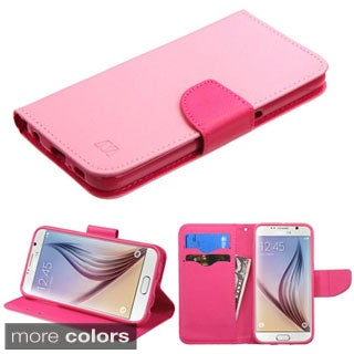 Insten Leather Phone Case with Stand/ Wallet Flap Pouch for Samsung Galaxy S6