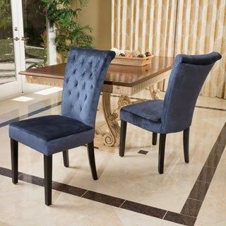 Charlotte Crush Velvet Dining Chair (Set of 2) by Christopher Knight Home
