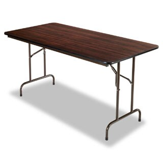 Alera Walnut Wood Folding Table