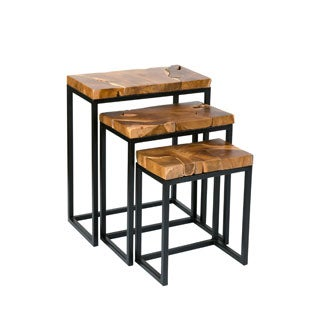 Argyle Brown Square Nesting Table