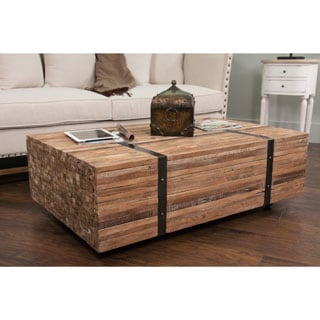 Augusta Brown Rectangle Coffee Table