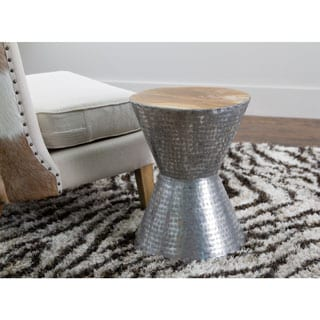 Avera Silver Round Side Table