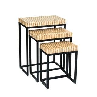 Blackshear Off-White Rectangle Nesting Table