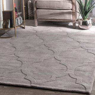 nuLOOM Handmade Abstract Trellis Wool Rug (5' x 8')