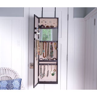 hives u0026 honey paige overthedoor jewelry mirror armoire