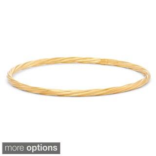 Gioelli Sterling Silver Twisted Bangle Bracelet