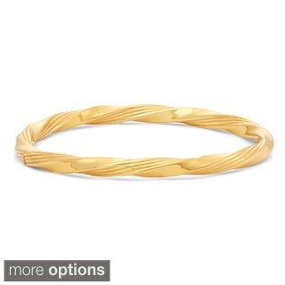 Gioelli Sterling Silver Double Twisted Bangle Bracelet