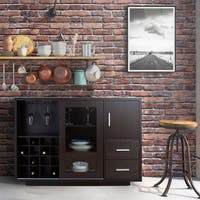 The Gray Barn Epona Modern Sliding Door Wine Bar Dining Server
