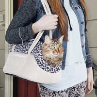 Paw Cozy Cat Soft Sided Leopard Print Pet Carrier