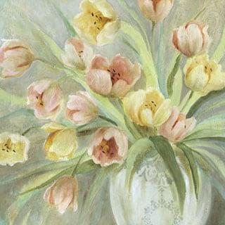 Portfolio Canvas Decor E. Franklin 'Tulip Blush' Framed Canvas Wall Art