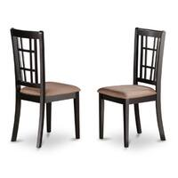 Nicoli Black/ Cherry Kitchen Chair  (Set of 2)