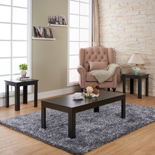 Living Room 3 Piece Table Sets furniture of america artemie modern 3-piece coffee and end table