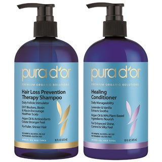 Pura d'Or Premium Organic Hair Loss Prevention Shampoo/ Conditioner Set