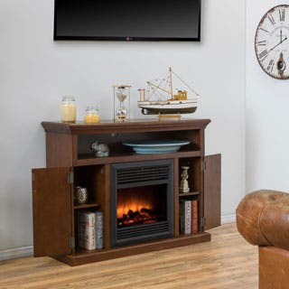 Homestead Electric Fireplace Mantel with Remote Control by Christopher Knight Home|https://ak1.ostkcdn.com/images/products/P17298394jt.jpg?impolicy=medium