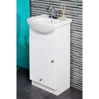 sink top for vanity. Fine Fixtures Petite 16 inch Vanity with Vitreous China Sink Top White Bathroom Vanities  Cabinets For Less Overstock com
