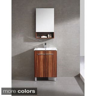 fine fixtures greenpoint 24 inch vanity with vitreous china sink top option black