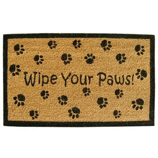 SuperScraper Vinyl Coir Wipe Your Paws Door Mat