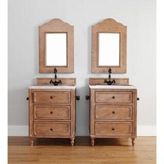 """Copper Cove 26"""" Single Vanity Cabinet, Copper Cover (4 options available)"""