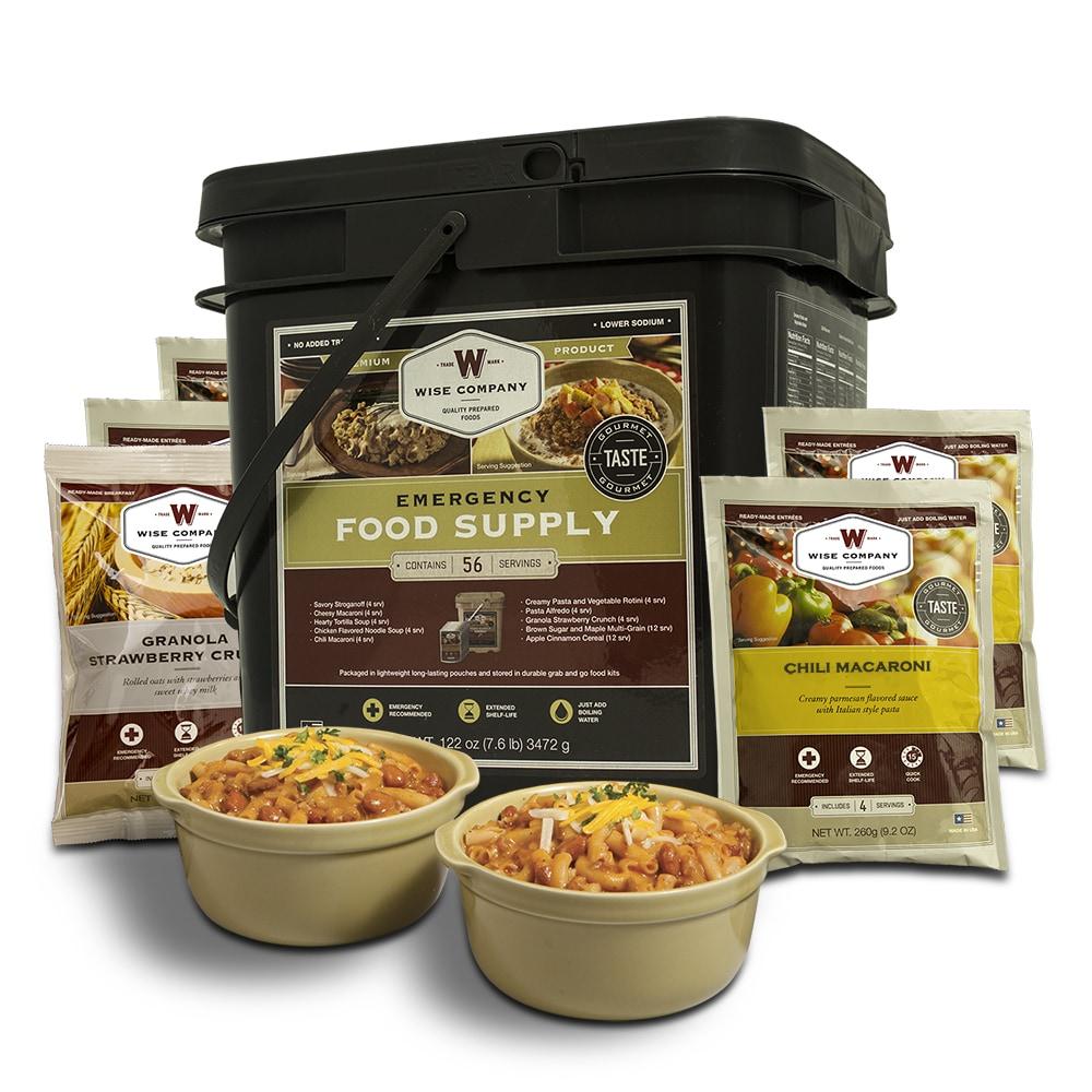 Wise Foods Breakfast&Entrée Grab&Go Bucket 56 Servings