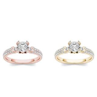 De Couer 14k Gold 1 1/4ct TDW Diamond Exquisite Engagement Ring