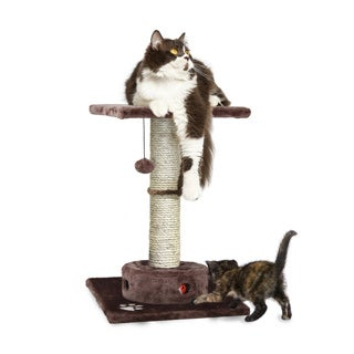 Tiger Tough Cat Playground Scratching Post with Cat- IQ Busy Box
