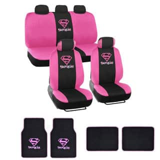 Warner Brothers Universal Fit Supergirl Seat Cover Accessories Set
