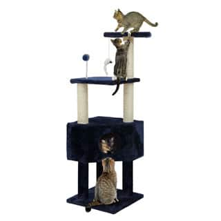 Cat Clubhouse Playground Cat Tree (Option: Blue)|https://ak1.ostkcdn.com/images/products/P17323811m.jpg?impolicy=medium