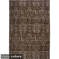 Rizzy Home Ivory/ Brown Galleria Collection Power-Loomed Traditional Accent Rug (7'10 x 10'10)