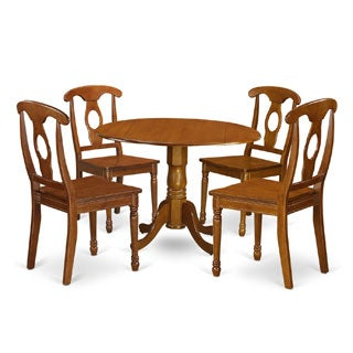 shop saddle brown small table plus 4 chairs 5 piece dining set free shipping today overstock. Black Bedroom Furniture Sets. Home Design Ideas