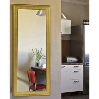 American Made Rayne Vintage Gold Floor Mirror