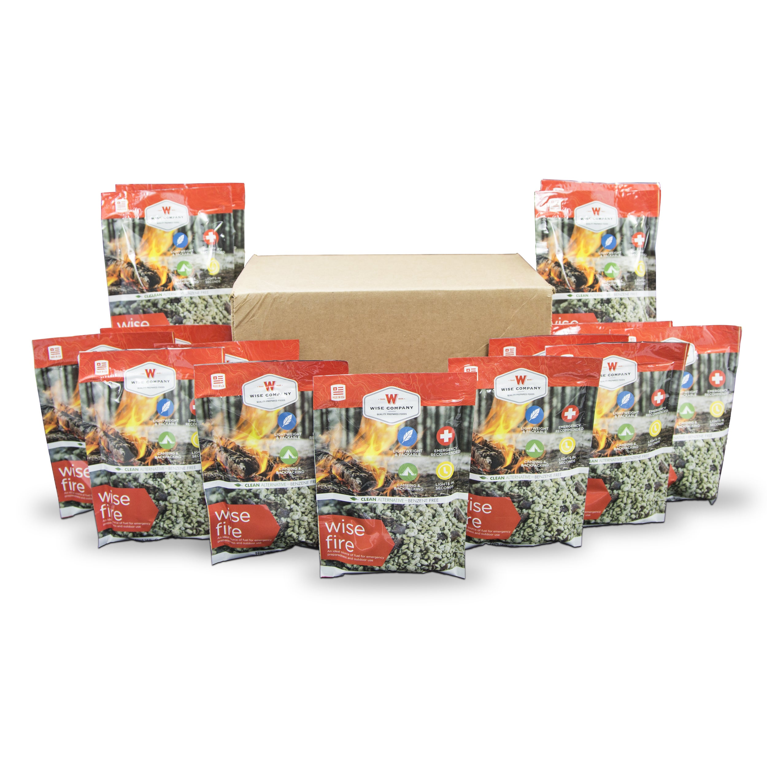 Wise Company 15 Individual Pouches of WiseFire Starter