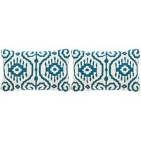 Safavieh Tennes Royal Blue Throw Pillows (12-inches x 20-inches) (Set of 2)