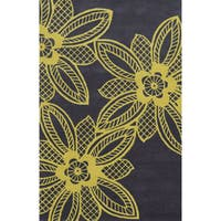 Grey/ Yellow Bradberry Downs Collection 100-percent Wool Accent Rug (8' x 10') - 8' x 10'