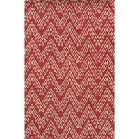 Pink/ White Bradberry Downs Collection 100-percent Wool Accent Rug - 3' x 5'