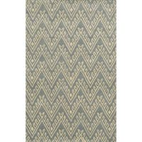 Bradberry Downs Grey/ White Collection 100-percent Wool Accent Rug - 5' x 8'