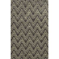 Grey/ White Bradberry Downs Collection 100-percent Wool Accent Rug - 5' x 8'