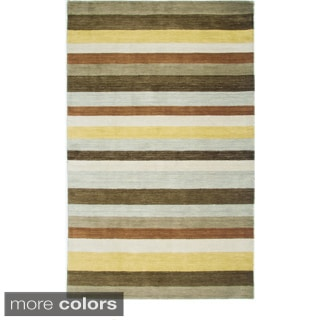 Blue/ Red/ Purple/ Brown Rizzy Home Platoon Collection New Zealand Wool Accent Rug (5' x 8')