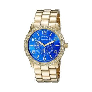 Vernier Women's Color Dial Crystal Bezel Chrono-Look Bracelet Watch
