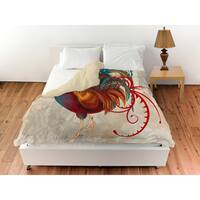 Teal Rooster II Duvet Cover