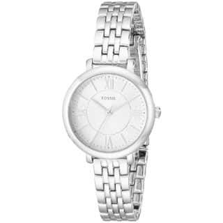 Fossil Woman's ES3797 Jacqueline Small Three-Hand Stainless Steel Silver Watch|https://ak1.ostkcdn.com/images/products/P17341859m.jpg?impolicy=medium