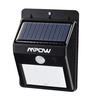 Mpow 8 LED Light Source Solar Powerd Wireless Security Motion Sensor Light Outdoor Wall/ Garden Lamp