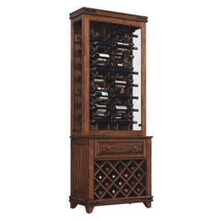 Bell'O CC30-20160X332T Mayfield Freestanding Upper 32 Bottle Cherry Finished Wine Cabinet