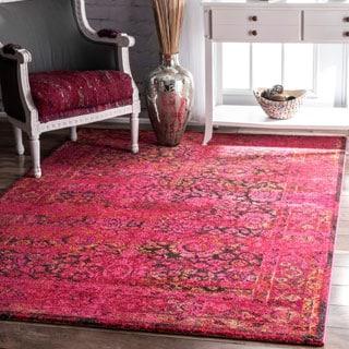 nuLOOM Traditional Vintage Modern Cherry Pink Rug (5'3 x 7'7)