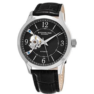 Stuhrling Original Men's Classique Skeletonized Automatic Leather Strap Watch