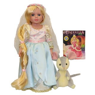 Dazzleworks Deluxe Once Upon a Time Cinderella Storybook Doll